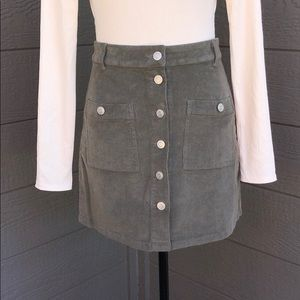 Peach Love California Corduroy Skirt